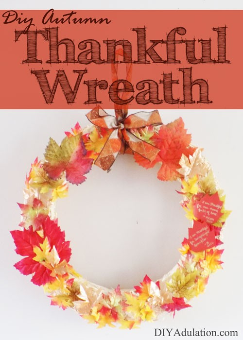Practice thankfulness with this gorgeous DIY autumn thankful wreath. This will become a fun Thanksgiving tradition you look forward to each year!