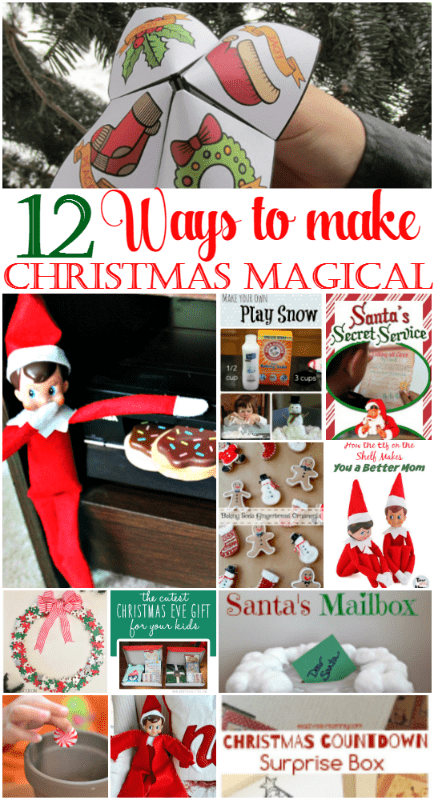 It is time for day 10 in our 12 Days of Christmas Ideas Series and today, Megan is sharing 12 ways to make Christmas magical for your kids this year.