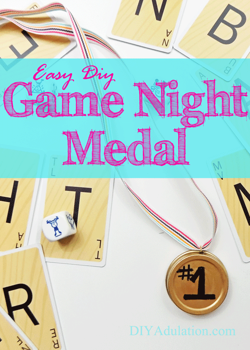 Competition is a healthy part of life. Surprise your kiddos at the next family game night with this easy DIY game night medal and watch the fun unfold!