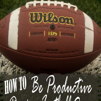 How to be Productive during Football Season