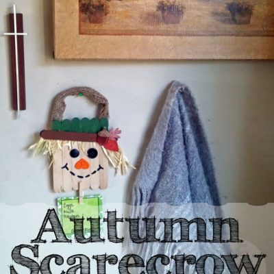 Autumn Scarecrow Note Holder