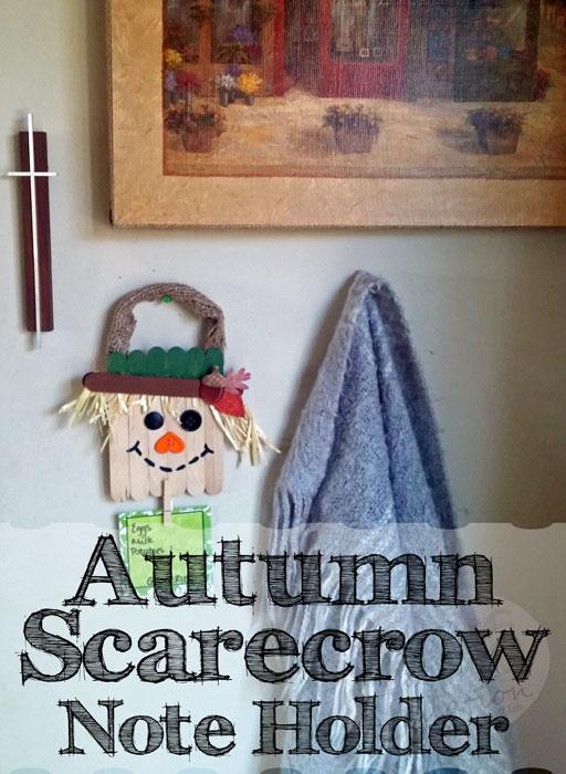 Autumn Scarecrow Note Holder