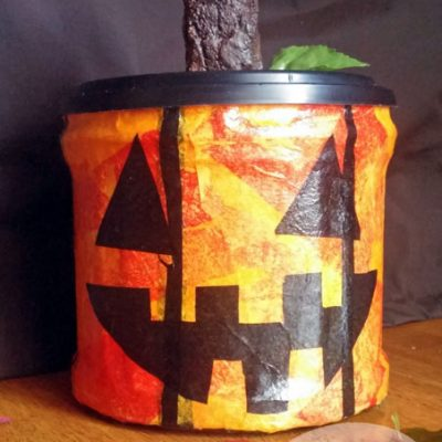 DIY Jack-O-Lantern Treat Jar
