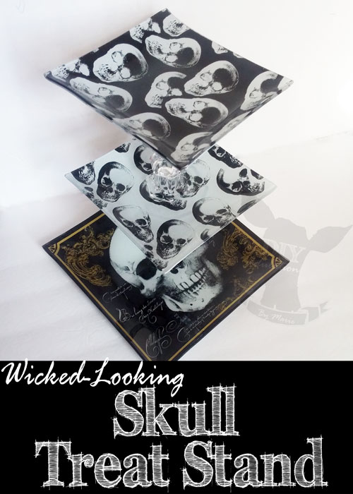 Wicked-Looking Skull Treat Stand