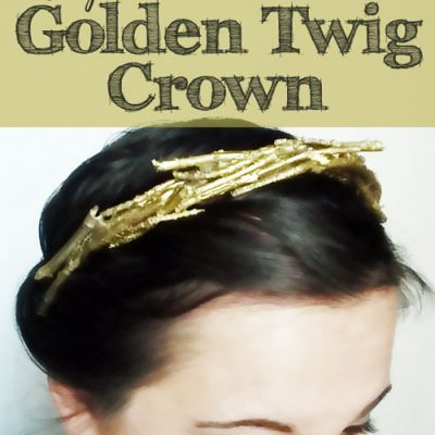 DIY Golden Twig Crown