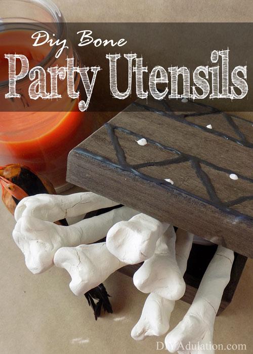 DIY Bone Party Utensils