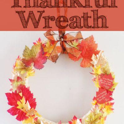 DIY Autumn Thankful Wreath
