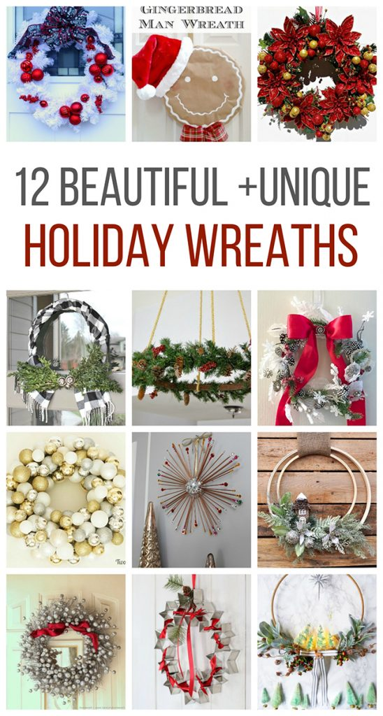 12 Beautiful + Unique Holiday Wreaths