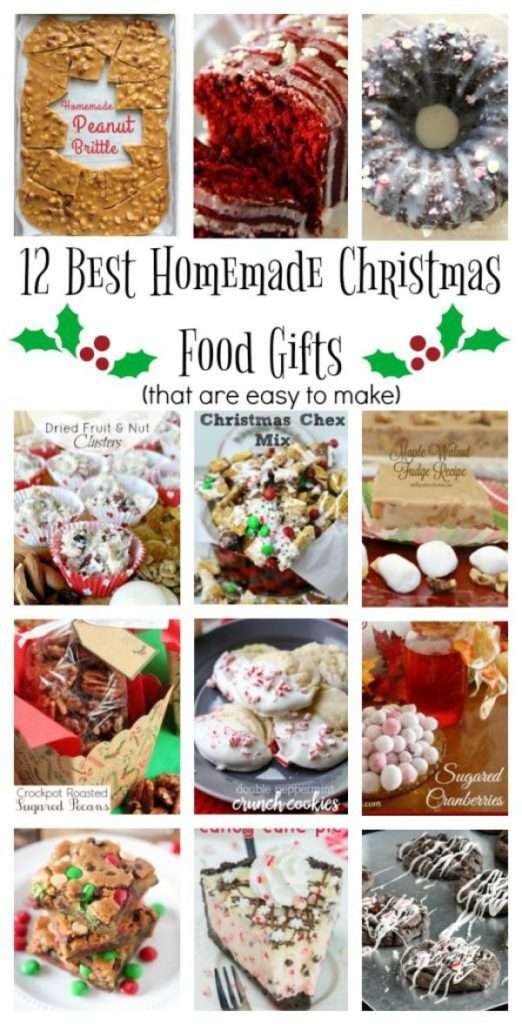 12 Days of Christmas Ideas – Best Homemade Christmas Food Gifts