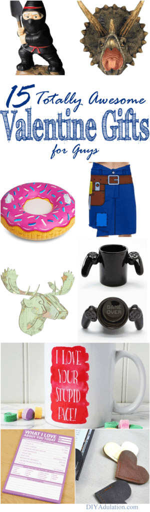 Tired of boring gift ideas? Whether your sweetie is a gamer guy or a helpful handyman, here are 15 totally awesome Valentine gifts for guys.