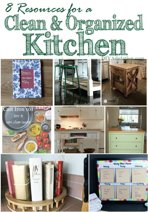 8 Resources for a Clean and Organized Kitchen + Merry Monday Link Party 142