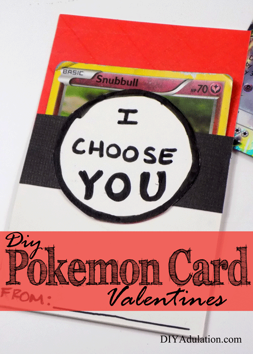 DIY Pokemon Card Valentines