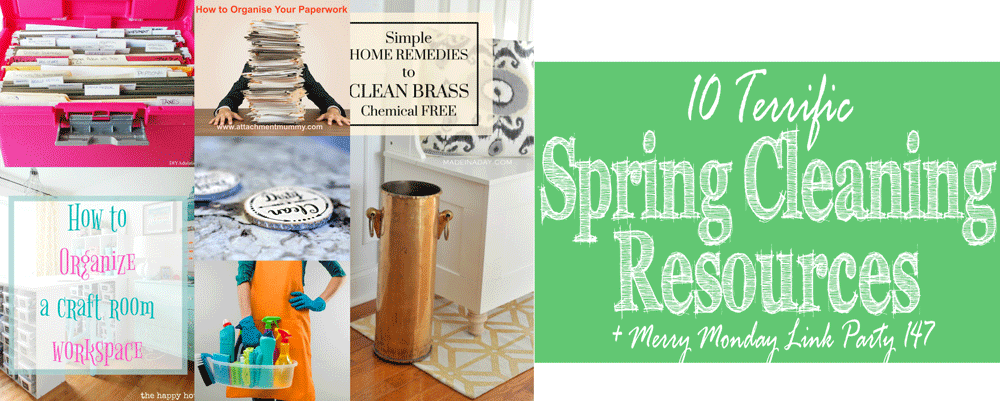 You can't organize a messy home. When the spring cleaning bug hits this year embrace it with these 10 terrific spring cleaning resources!
