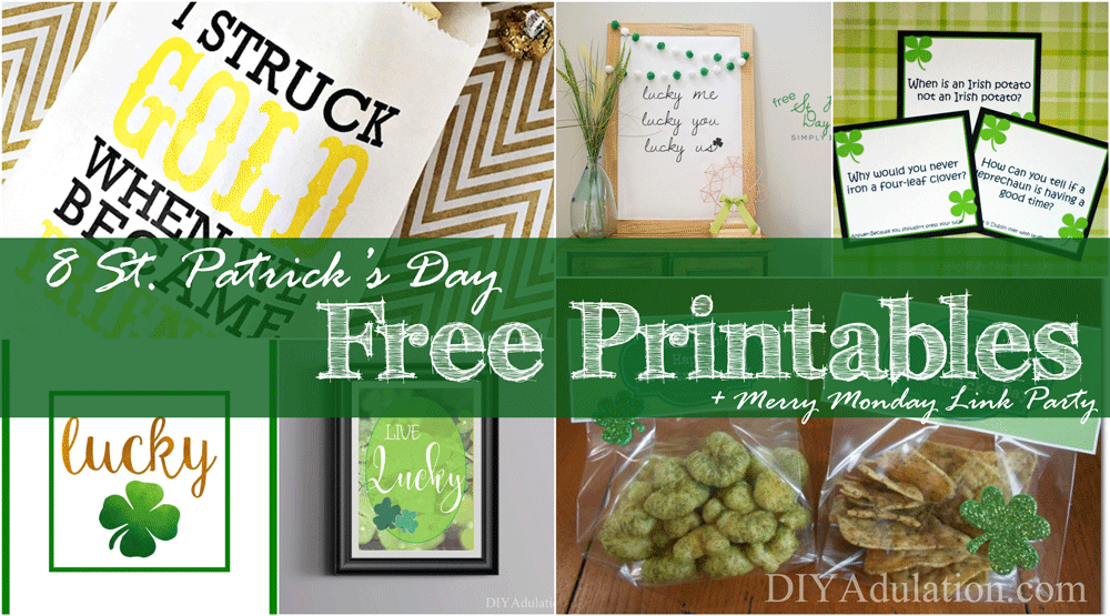 Does awesome free stuff make you do a happy dance? That's why I've rounded up 8 Saint Patrick's Day free printables for you.