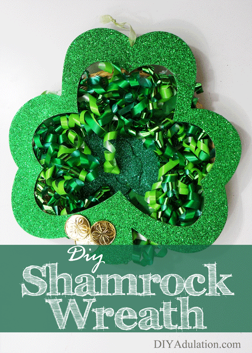 Are you stoked for St. Patrick's Day this year? Get ready to celebrate with this awesome and easy DIY shamrock wreath!