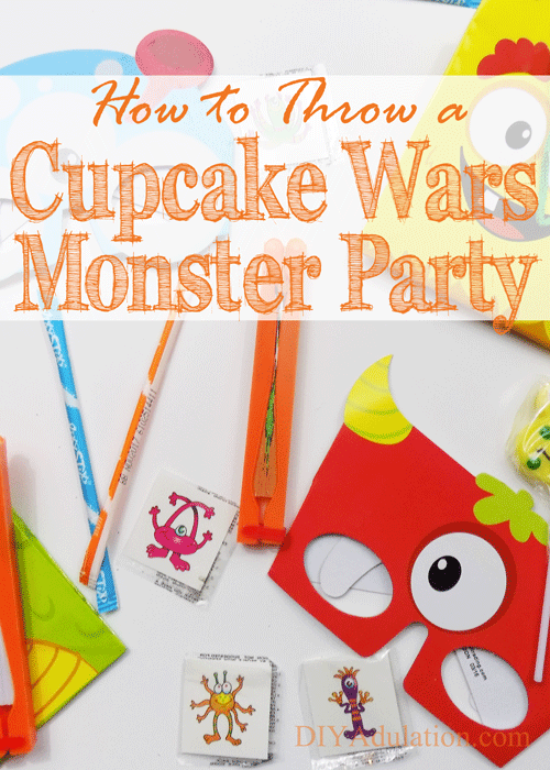 How to Throw a Cupcake Wars Monster Party + Money Saving Tips