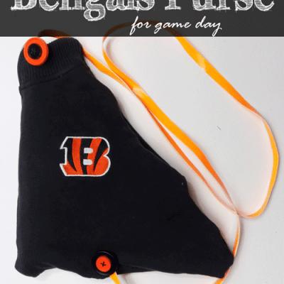 DIY Cincinnati Bengals Purse for Game Day