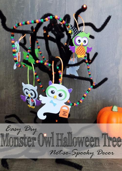 Easy Monster Owl Halloween Tree : Not-So-Spooky Decor