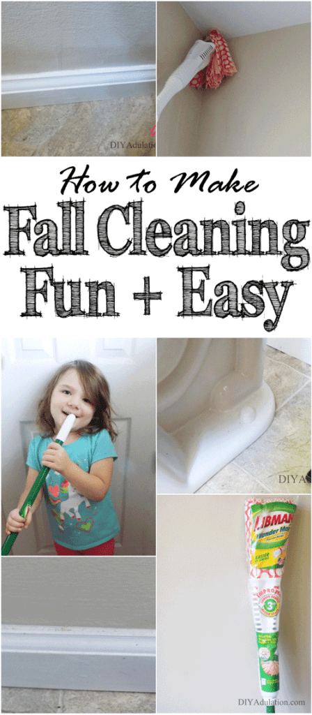 What if you could make fall cleaning fun and easy? Find out how to embrace life's messes with the right tools and a heap of fun. #ad