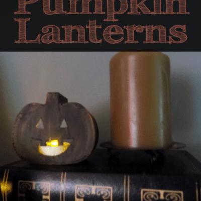 DIY Mini Pumpkin Lanterns :: Easy Fall Decor Idea