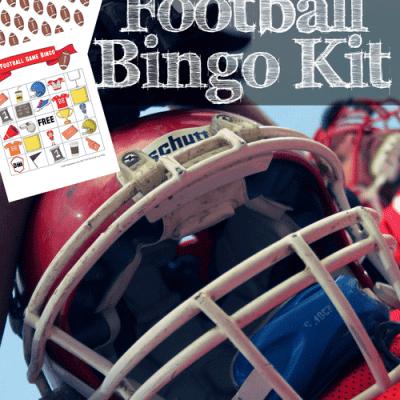 Free Printable Football Bingo Kit :: Movie Monday Challenge