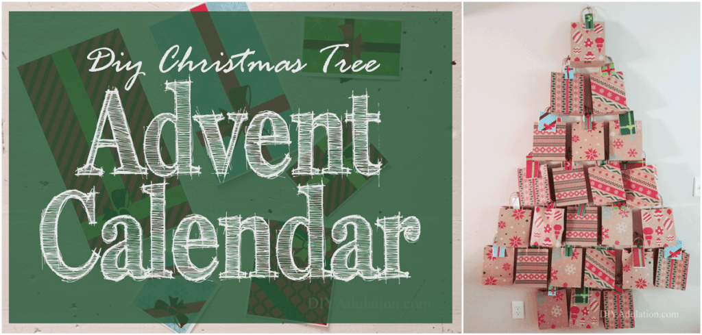 This DIY Christmas tree Advent calendar is easy to make and inexpensive. Find out how to make it and get ideas on how to fill it for memorable Advent!