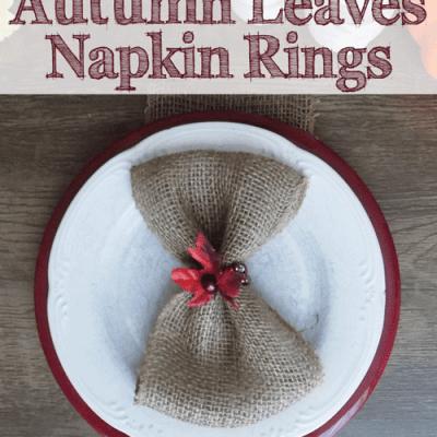 DIY Beaded Autumn Leaves Napkin Rings