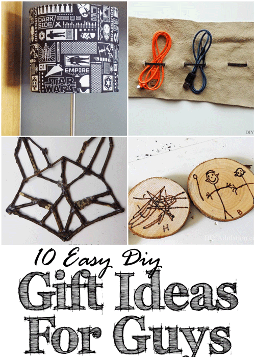 Are you having trouble figuring out what to get the guys on your list this year? These 10 easy DIY gift ideas for guys are budget friendly and awesome!