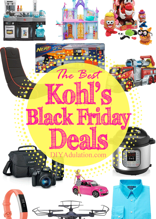 Knock out everyone on your gift list and stay under budget with the best Black Friday deals at Kohl's this year! + Earn Kohl's Cash for more savings later!