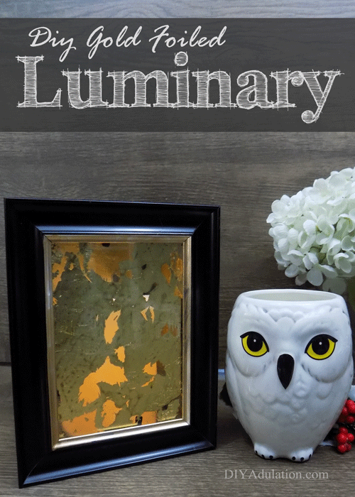 DIY Gold Foiled Luminary : Dollar Store Craft