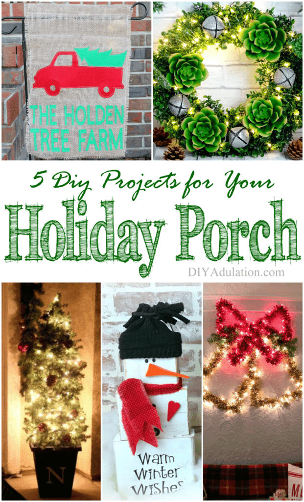 Can you believe that gorgeous décor can be this easy? These 5 DIY projects for your holiday porch will have you ready for the season in no time.