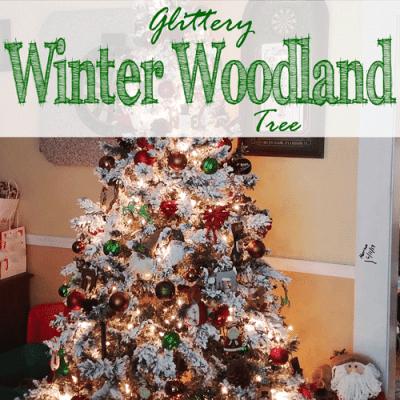 Glittery Winter Woodland Tree + Why I Love Christmas