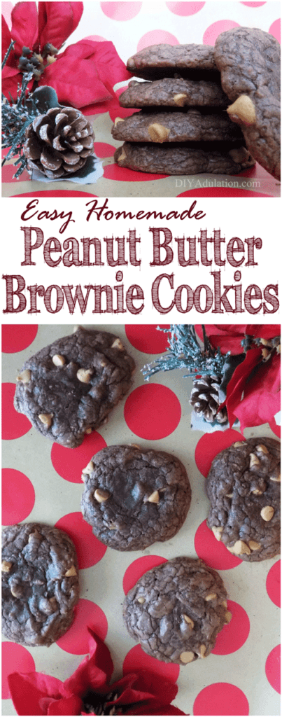 Get those oven mitts ready! These easy homemade peanut butter brownie cookies are a decadent dessert that comes together quickly.