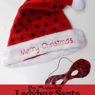 DIY Miraculous Ladybug Santa Hat and Mask