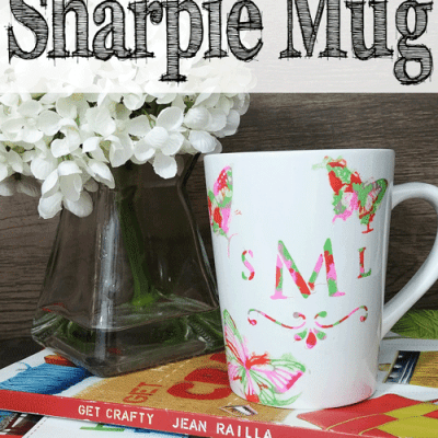 DIY Monogram Stenciled Sharpie Mug