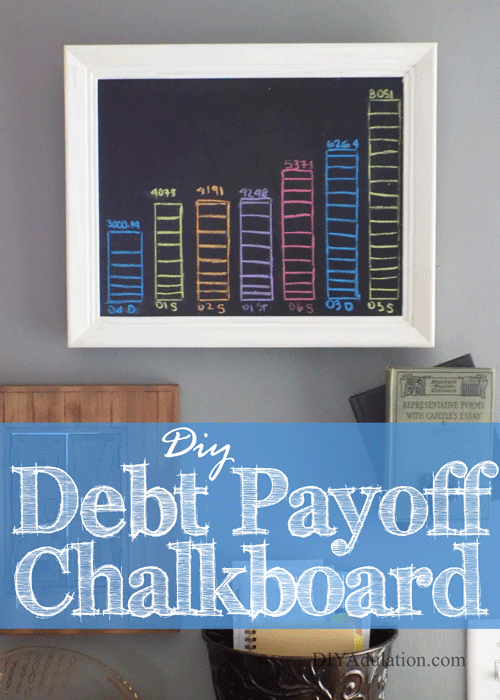 DIY Debt Payoff Chalkboard for Debt-Free Living