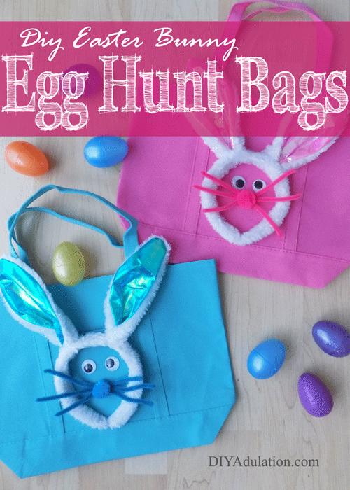 DIY Easter Bunny Egg Hunt Bags | Easy Easter Craft