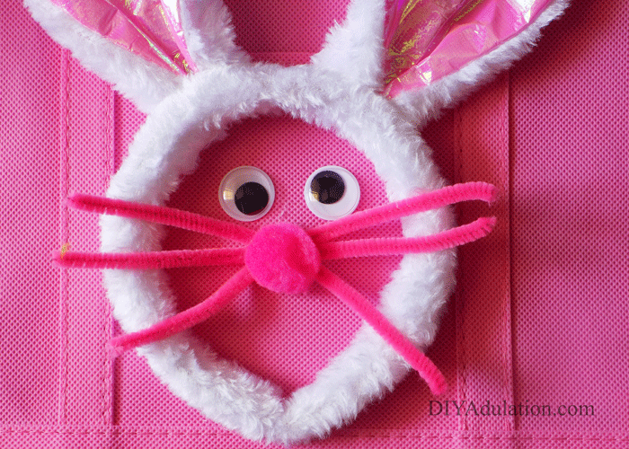 Close up of Pink Easter Bunny Face