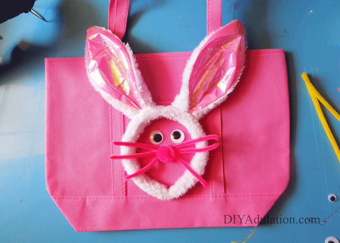 Blue Easter Bunny Egg Hunt Bag