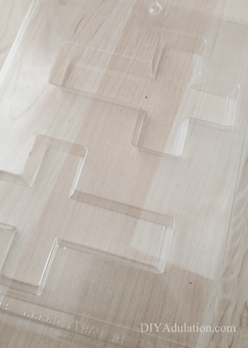 Empty plastic cross mold