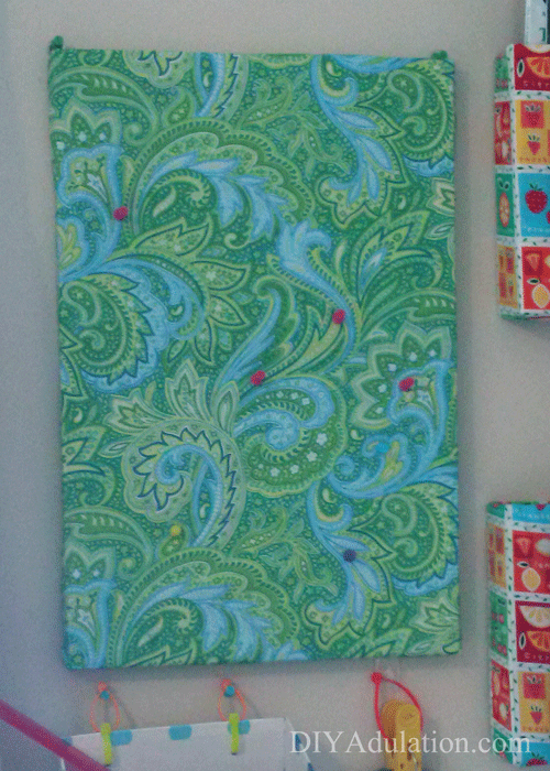 Blue and Green Paisley Cork Board
