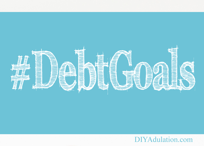 Hashtag Debt Goals Text