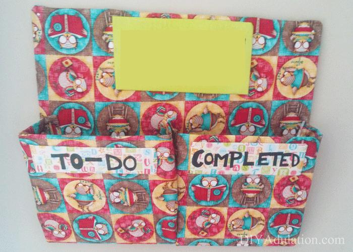 Owl covered child's homework station