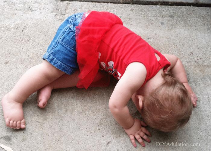 Child on Ground Throwing Tantrum