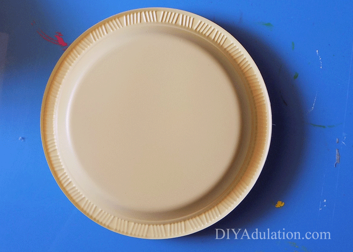 Bottom of plastic yellow plate