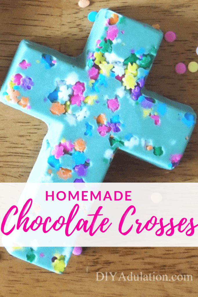 Mint and Raspberry Chocolate Crosses for Easter