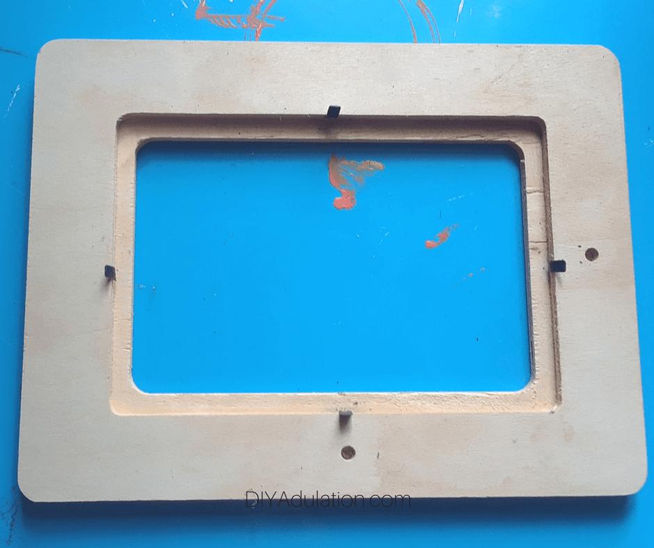 Removed Insert Blank Wooden Frame