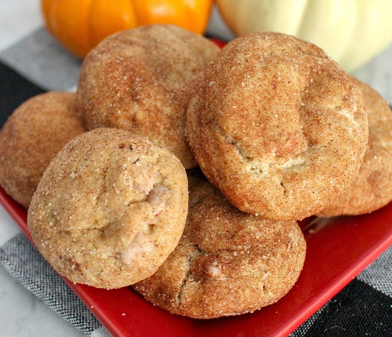 Plate of Maple Snickerdoodle Cookies