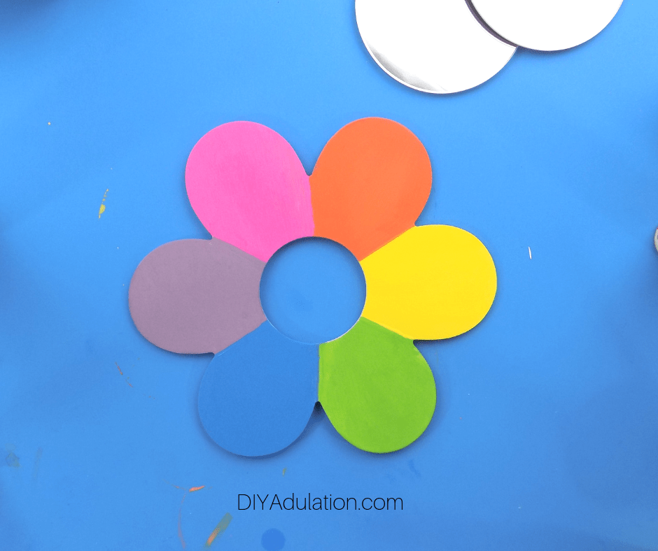 Painted Rainbow Flower Drying