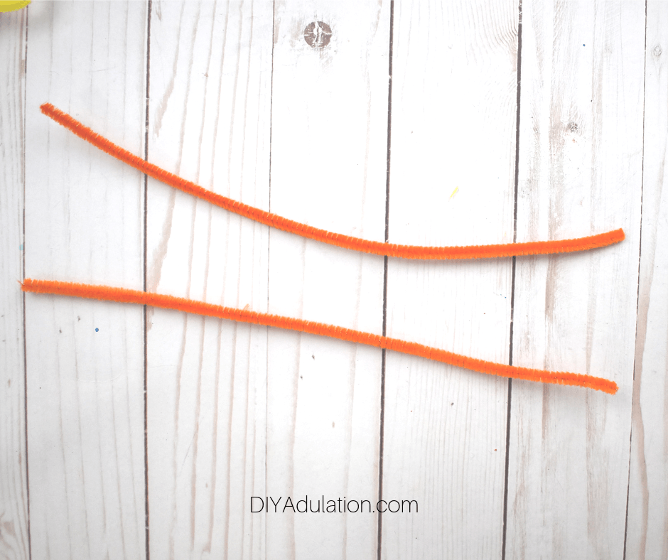 2 Orange Pipe Cleaners